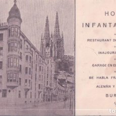 Coleccionismo Papel Varios: BURGOS - HOTEL INFANTA ISABEL 1980 - REVERSO PLANO DE BURGOS - SITUACION DEL HOTEL. Lote 195262281