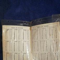 Coleccionismo Papel Varios: TABLA RESTAR, TABLA MULTIPLICAR, TABLA DIVIDIR, TABLA SUMAR. ANTIGUA. Lote 195298935