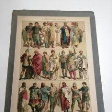 Coleccionismo Papel Varios: LÁMINA. BIZANTIOS 700 A 1000 D. DE C. MILITARES. FINALES S. XIX PRINCIPIOS S. XX.. Lote 195302702