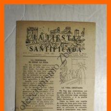 Coleccionismo Papel Varios: LA FIESTA SANTIFICADA - AÑO XXIV Nº 1403 - FEBRERO 1952. Lote 195331587