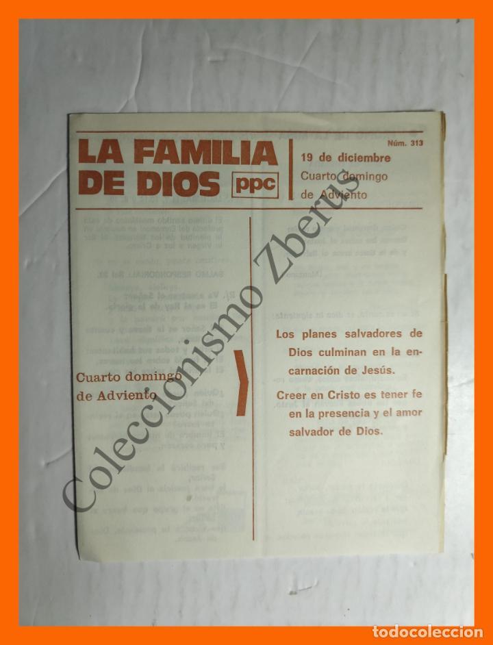 LA FAMILIA DE DIOS - Nº 313 - 19 DICIEMBRE, CUARTO DOMINGO DE ADVIENTO (Coleccionismo en Papel - Varios)