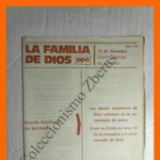 Coleccionismo Papel Varios: LA FAMILIA DE DIOS - Nº 313 - 19 DICIEMBRE, CUARTO DOMINGO DE ADVIENTO. Lote 195332522