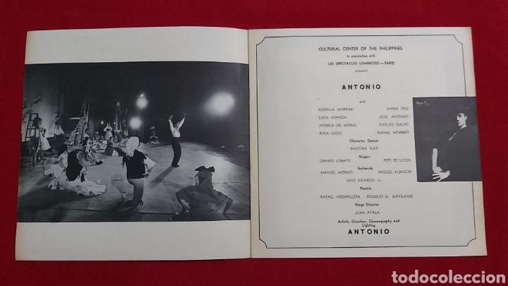 Coleccionismo Papel Varios: PROGRAMA ANTONIO AND HIS SPANISH BALLET COMPANY. CULTURAL CENTER OF THE PHILIPPINES - Foto 2 - 195336703