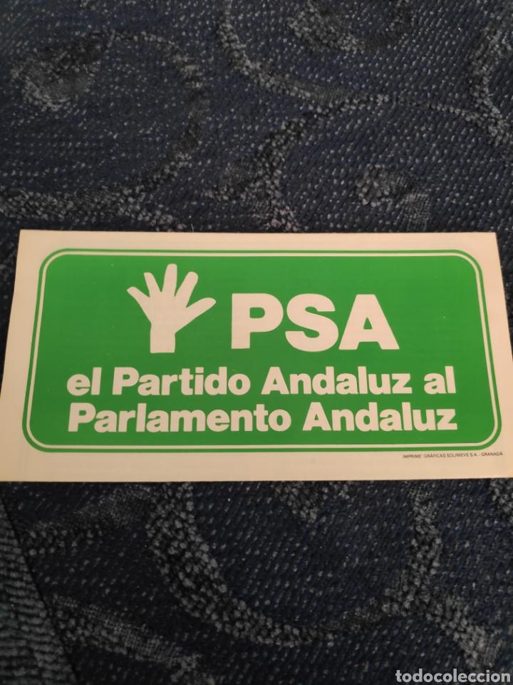 FOLLETO - PSA - RESUMEN DEL PROGRAMA DE GOBIERNO PARA ANDALUCÍA - EL PARTIDO ANDALUZ AL PARLAMENTO (Coleccionismo en Papel - Varios)