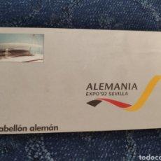 Coleccionismo Papel Varios: FOLLETO - ALEMANIA EXPO 92 SEVILLA. Lote 195381893