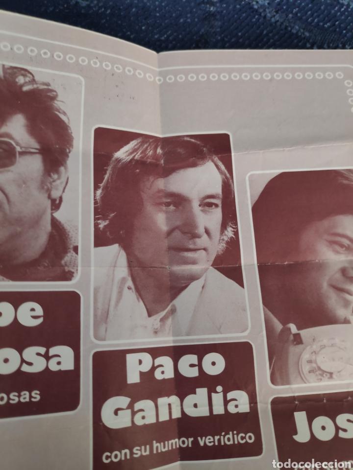 Coleccionismo Papel Varios: Folleto actuación Paco Gandía, Josele y Pepe da Rosa en Alcalá de Guadaira - Foto 2 - 195382665