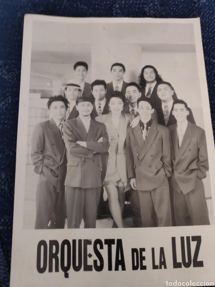 TARJETA GRANDE - ORQUESTA DE LA LUZ (Coleccionismo en Papel - Varios)
