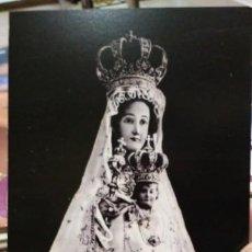 Coleccionismo Papel Varios: ESTAMPA VIRGEN DE BEGOÑA REPRODUCCIÓN DE LAMINA ENVIADA A ALMACIGA DESDE BILBAO EN SEPTIEMBRE DE 194. Lote 195388256