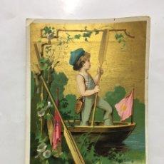 Coleccionismo Papel Varios: CROMOLITOGRAFIA. SASTRERÍA A. DEL ÁLAMO. LOS ÁNGELES. H. 1900?.. Lote 195406576