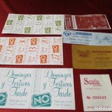 Coleccionismo Papel Varios: LOTE 7 ETIQUETAS DE DISCOTECA Y CONCIERTO: NO, SCANDIA, KRONIKA, SCALA, Y ZENITH. TODAS DE BARCELONA. Lote 195409062