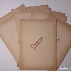 Coleccionismo Papel Varios: 10 ANTIGUOS CUADERNOS. Lote 195436605