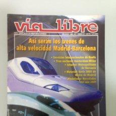 Coleccionismo Papel Varios: VIA LIBRE 441, DOSSIER ERTMS, VIA VERDE DE MAESTU, FERROCARRIL Y CANAL DE ISABEL II. Lote 195457663