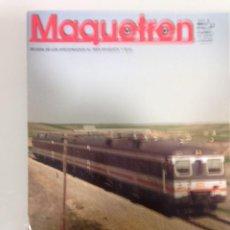 Coleccionismo Papel Varios: MAQUETREN 89,GRÚAS DIGITALES DE ROCO, RENFE 303 EN N, CATERPILLAR PARA FEVE, . Lote 195459818