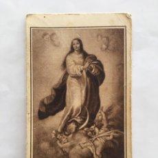 Coleccionismo Papel Varios: CROMOLITOGRAFIA. INMACULADA CONCEPCIÓN. LECHE CONDENSADA NVRIA.. Lote 195462565