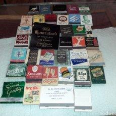 Coleccionismo Papel Varios: LOTE DE 36 CAJAS DE CERILLAS AÑOS 50 PRECIOSAS. Lote 195540268