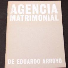 Coleccionismo Papel Varios: EDUARDO ARROYO - CUADERNO DE ARTISTA - MATADOR - 1998 - AGENCIA MATRIMONIAL. Lote 217428187