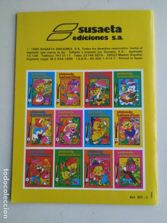 Coleccionismo Papel Varios: Cuaderno PINTANDO ANIMALITOS No. 2 (Álbum para Colorear Susaeta). 1985 - Foto 2 - 195961908
