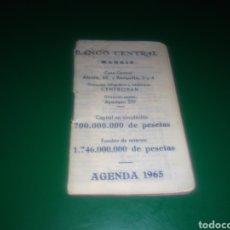 Coleccionismo Papel Varios: ANTIGUA AGENDA USADA. BANCO CENTRAL DE MADRID. 1965. Lote 196001472