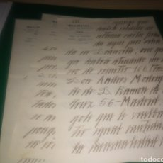 Coleccionismo Papel Varios: TRES CARTAS MANUSCRITAS. CON MEMBRETE REX HOTEL DE PARÍS. AÑOS 40. Lote 196002482