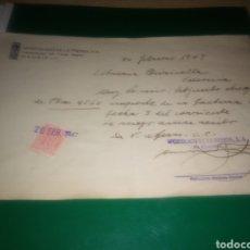 Coleccionismo Papel Varios: DOCUMENTO DE 1947. CON SELLO TIMBRE MÓVIL. APOSTOLADO DE LA PRENSA. MADRID. 1947. Lote 196003286