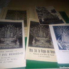 Altri oggetti di carta: LOTE DE 4 DOCUMENTOS Y FOTO. VIRGEN DEL REMEDIO. PATRONA DE PETREL DE ALICANTE. Lote 196005075