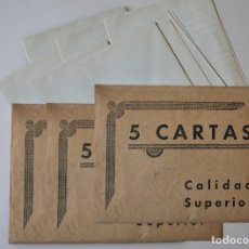 Collectionnisme Papier divers: 3 SOBRES PAPEL CARTAS 1940-50. Lote 196015530