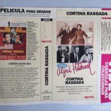 Coleccionismo Papel Varios: CARATULA VÍDEO VHS SUPERTELE ALFRED HITCHCOCK CORTINA RASGADA. Lote 196049487