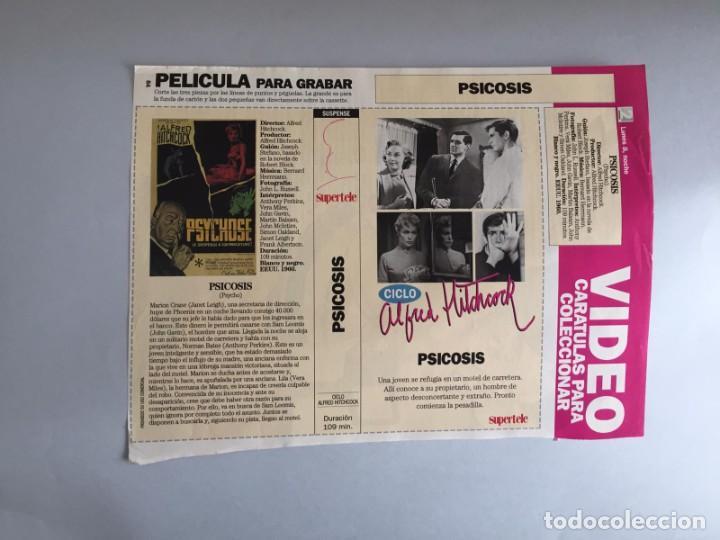 CARATULA VÍDEO VHS SUPERTELE ALFRED HITCHCOCK PSICOSIS (Coleccionismo en Papel - Varios)
