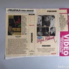 Coleccionismo Papel Varios: CARATULA VÍDEO VHS SUPERTELE ALFRED HITCHCOCK PSICOSIS. Lote 196049706