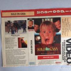 Coleccionismo Papel Varios: CARATULA VÍDEO VHS SUPERTELE SOLO EN CASA. Lote 196049820