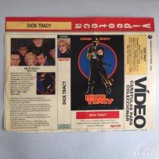 Coleccionismo Papel Varios: CARATULA VÍDEO VHS SUPERTELE DICK TRACY MADONNA. Lote 196049928