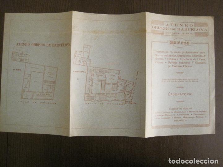 Coleccionismo Papel Varios: ATENEO OBRERO DE BARCELONA-CURSO DE 1928 1929-VER FOTOS-(V-19.382) - Foto 5 - 196803226