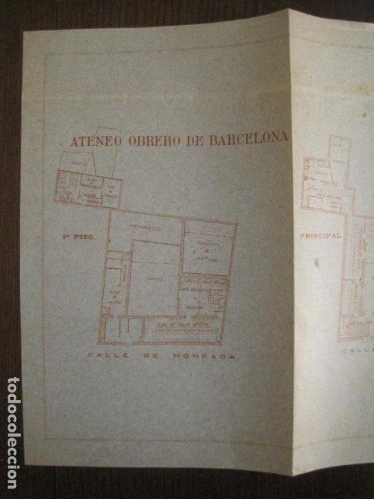 Coleccionismo Papel Varios: ATENEO OBRERO DE BARCELONA-CURSO DE 1928 1929-VER FOTOS-(V-19.382) - Foto 8 - 196803226