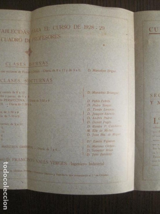 Coleccionismo Papel Varios: ATENEO OBRERO DE BARCELONA-CURSO DE 1928 1929-VER FOTOS-(V-19.382) - Foto 10 - 196803226