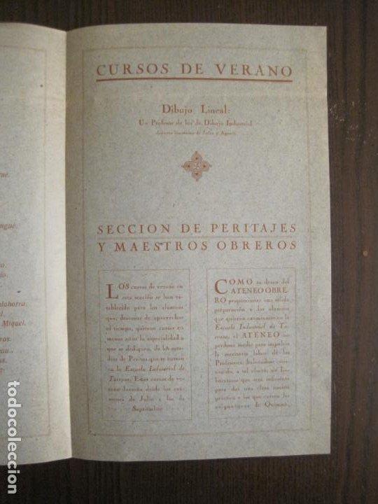 Coleccionismo Papel Varios: ATENEO OBRERO DE BARCELONA-CURSO DE 1928 1929-VER FOTOS-(V-19.382) - Foto 11 - 196803226
