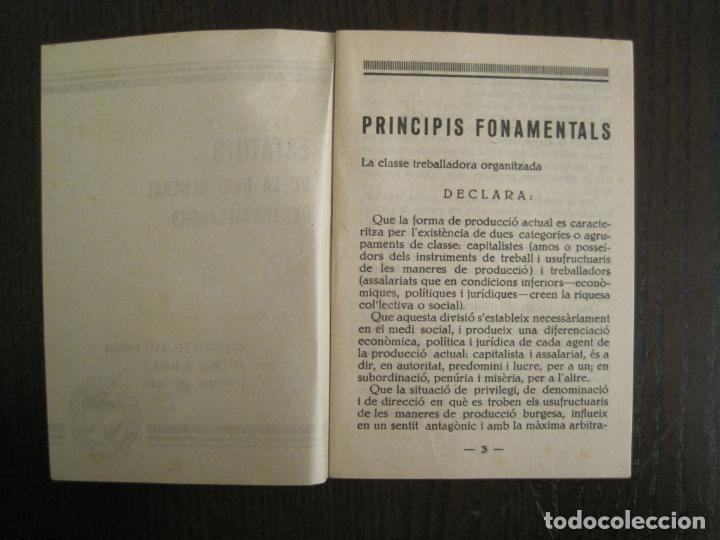 Coleccionismo Papel Varios: UGT-ESTATUTS DE LA UNIO GENERAL DE TREBALLADOR-ANY 1932-VER FOTOS-(V-19.394) - Foto 4 - 196805175