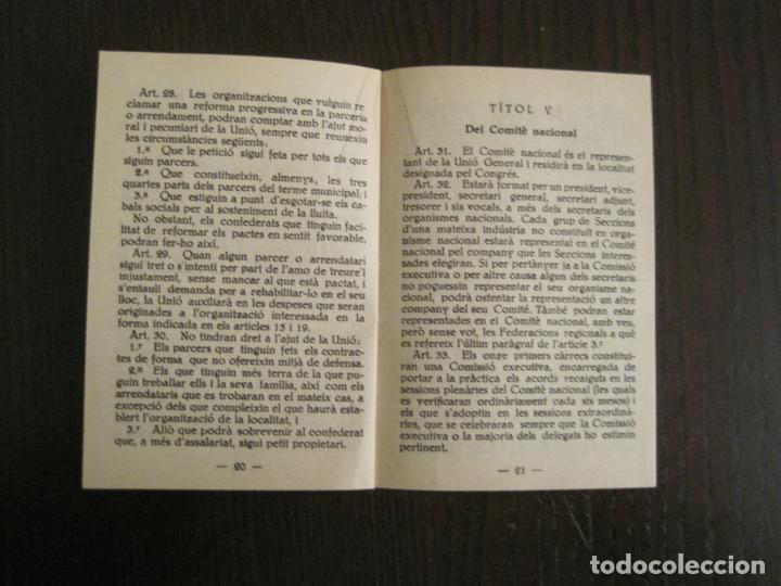 Coleccionismo Papel Varios: UGT-ESTATUTS DE LA UNIO GENERAL DE TREBALLADOR-ANY 1932-VER FOTOS-(V-19.394) - Foto 9 - 196805175