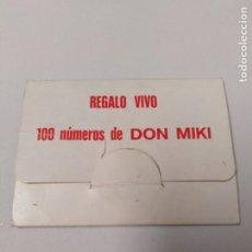Coleccionismo Papel Varios: CARTÓNCILLO 100 NÚMEROS DON MIKI. Lote 196885252