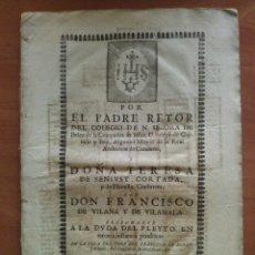 Coleccionismo Papel Varios: 1672 - 1731 RESPUESTA PLEYTO EN TERCERA INSTANCIA - VARIOS DOCUMENTOS BARCELONA. Lote 197133501
