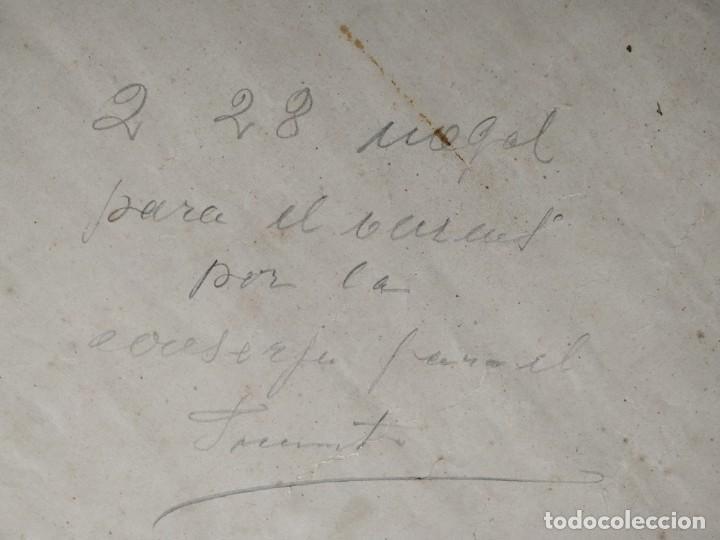 Coleccionismo Papel Varios: ANTIGUO POSTER LITOGRAFICO RECUERDO DEL NACIMIENTO EN EL AÑO 1916 - Foto 6 - 197279053