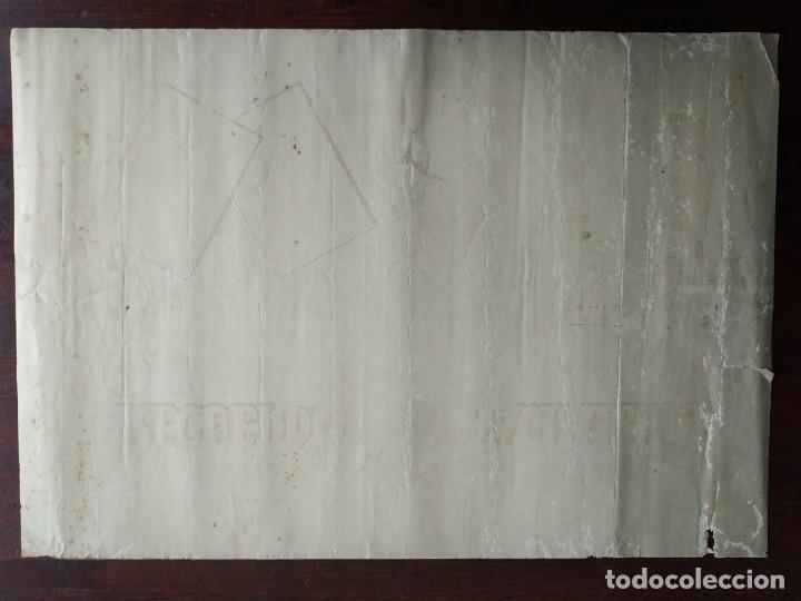 Coleccionismo Papel Varios: ANTIGUO diploma LITOGRAFICO RECUERDO DEL NACIMIENTO EN EL AÑO 1937 - Foto 3 - 197284160