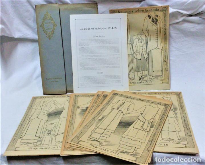 LECCIONES SOBRE LA MODA. ACADÉMIA CENTRAL MARTÍ,BARCELONA.LA MODA DE INVIERNO EN 1914-15 (Coleccionismo en Papel - Varios)