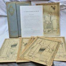 Coleccionismo Papel Varios: LECCIONES SOBRE LA MODA. ACADÉMIA CENTRAL MARTÍ,BARCELONA.LA MODA DE INVIERNO EN 1914-15. Lote 236140690