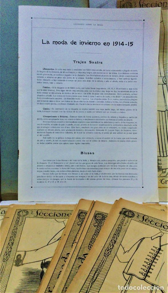 Coleccionismo Papel Varios: LECCIONES SOBRE LA MODA. ACADÉMIA CENTRAL MARTÍ,BARCELONA.LA MODA DE INVIERNO EN 1914-15 - Foto 2 - 236140690