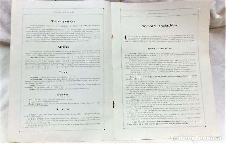 Coleccionismo Papel Varios: LECCIONES SOBRE LA MODA. ACADÉMIA CENTRAL MARTÍ,BARCELONA.LA MODA DE INVIERNO EN 1914-15 - Foto 3 - 236140690
