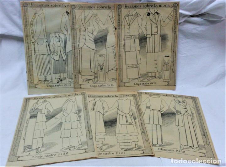 Coleccionismo Papel Varios: LECCIONES SOBRE LA MODA. ACADÉMIA CENTRAL MARTÍ,BARCELONA.LA MODA DE INVIERNO EN 1914-15 - Foto 4 - 236140690