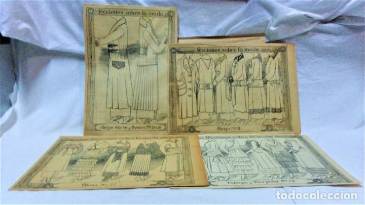 Coleccionismo Papel Varios: LECCIONES SOBRE LA MODA. ACADÉMIA CENTRAL MARTÍ,BARCELONA.LA MODA DE INVIERNO EN 1914-15 - Foto 6 - 236140690