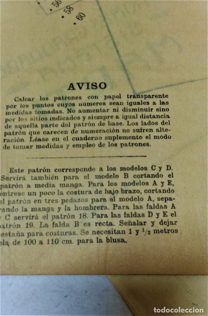 Coleccionismo Papel Varios: LECCIONES SOBRE LA MODA. ACADÉMIA CENTRAL MARTÍ,BARCELONA.LA MODA DE INVIERNO EN 1914-15 - Foto 13 - 236140690