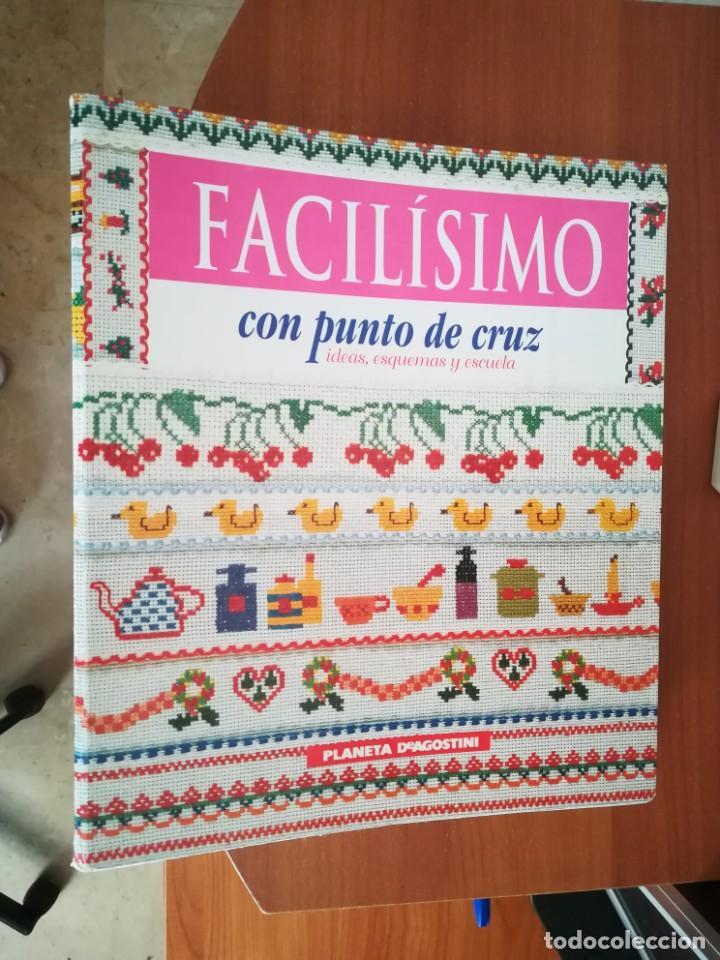COLECCIÓN FACÍLISIMO CON PUNTO DE CRUZ (Coleccionismo en Papel - Varios)