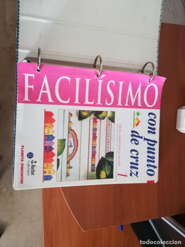 Coleccionismo Papel Varios: Colección Facílisimo con punto de cruz - Foto 2 - 197648583